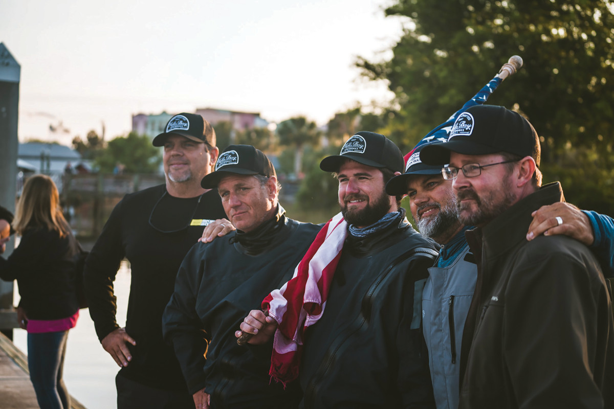 The Hell's Bayteam finished the race in 44 hours running a microskiff powered by a 70-hp Suzuki.