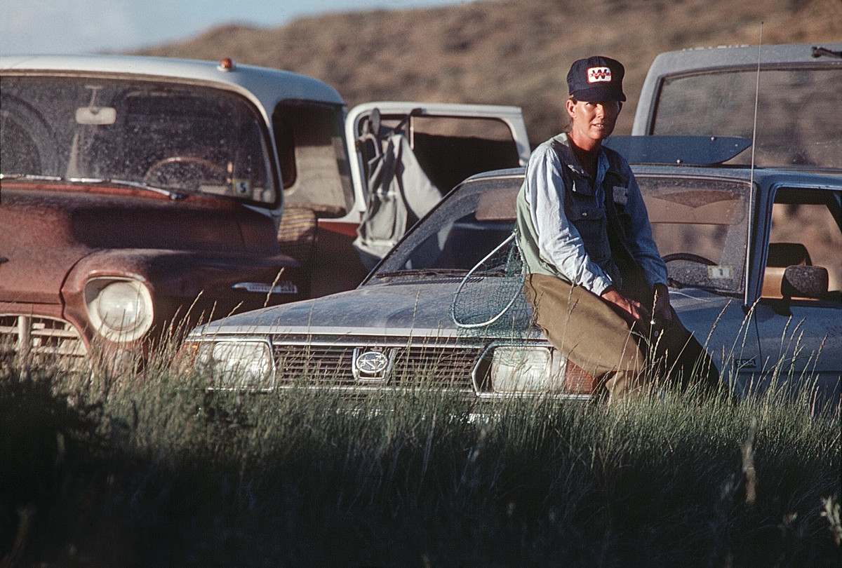 Leigh, who was featured in a Salem ad campaign, takes a breather as the '70s come to a close. The writer's glass streamer rod met its fate in the tailgate of his 1956 Chevy that day.